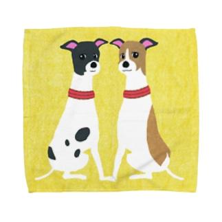 ema-emama『ウィペット』 Towel handkerchiefs