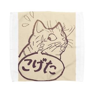 ヒゲがこげた猫 Towel handkerchiefs