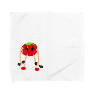 筋トレするトマト Towel handkerchiefs