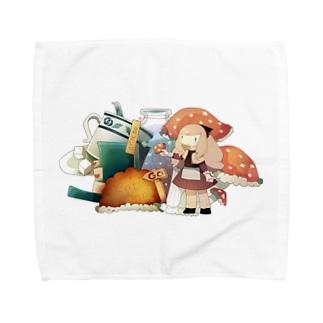 ふしぎのきのこ Towel handkerchiefs
