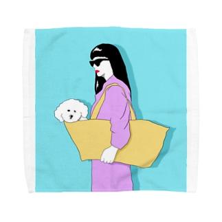ビションフリーゼ3 Towel handkerchiefs