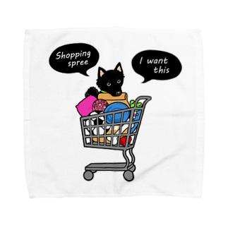 お買い物大好きスキッパーキ Towel handkerchiefs