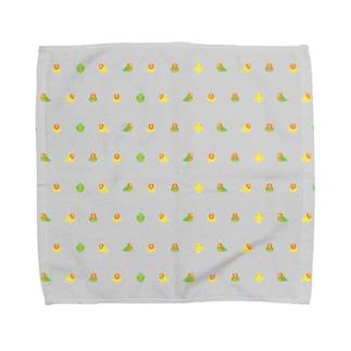 ちみまめコザクラインコちゃん【まめるりはことり】 Towel handkerchiefs