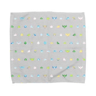 ちみまめマメルリハちゃん【まめるりはことり】 Towel handkerchiefs