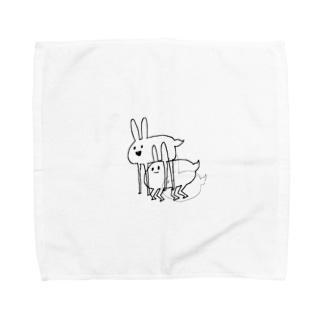 ホッキョクウサギ Towel handkerchiefs