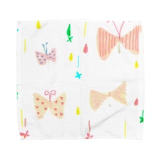 りぼんちょうちょ Towel Handkerchief