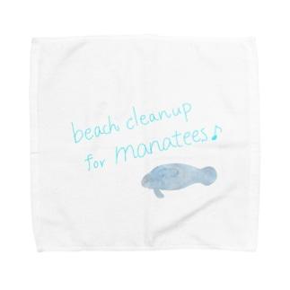 ビーチクリーンアップ for マナティーさん♡ Towel handkerchiefs