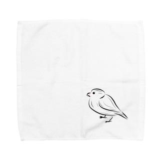 シンプル文鳥 Towel handkerchiefs