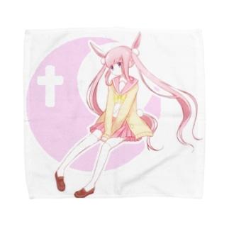 つきうさぎ Towel handkerchiefs