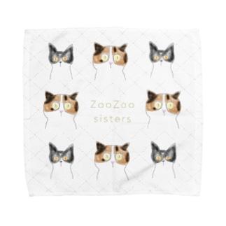 ネコ ズーズーシスターズ  Towel handkerchiefs