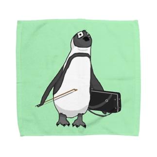 弓をしまい忘れたペンギン Towel handkerchiefs