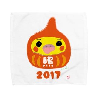 福だるま型 オカメインコ ノーマル Towel handkerchiefs
