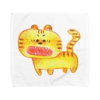 こわくないトラ Towel handkerchiefs