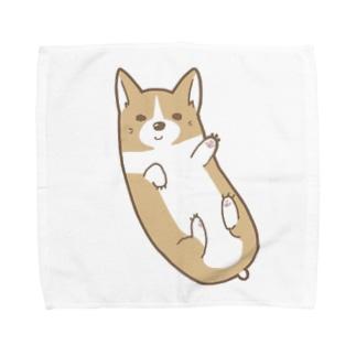 ころころコーギー Towel handkerchiefs