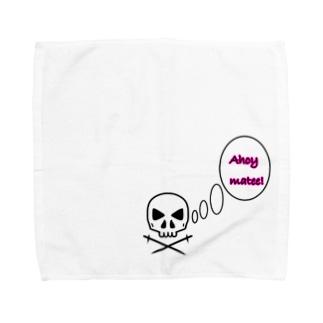 挨拶ドクロ Towel handkerchiefs