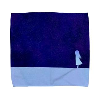 夜空と少女 Towel Handkerchief