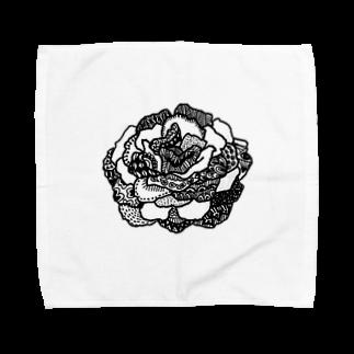 erkのラクガキのバラ Towel handkerchiefs