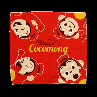 ココモンのココモンタオルハンカチL_A Towel handkerchiefs