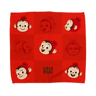 ココモンタオルハンカチL_B Towel handkerchiefs