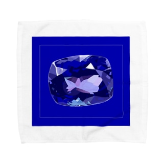 タンザナイト(枠あり) Towel handkerchiefs