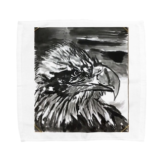 天空を司る鳥の王者【鷲】 Towel handkerchiefs