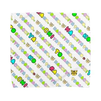 虎子の汗拭き専用タオル(白) Towel handkerchiefs