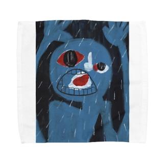 泣いている人 Towel handkerchiefs