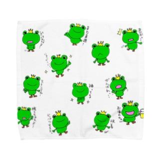 おぐちゃんねるのカエルちゃん Towel handkerchiefs