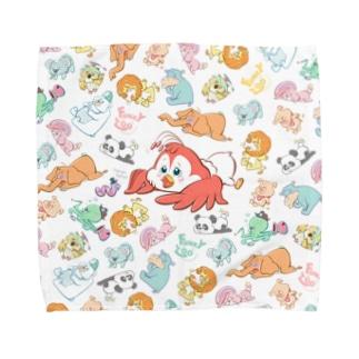 コトリ 〜FUNKY ZOO〜 Towel handkerchiefs