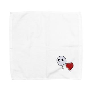 たれドクロ・たれハート Towel handkerchiefs