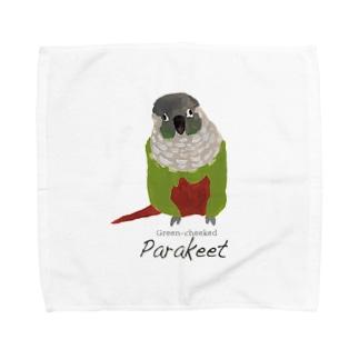 ウロコインコ Towel handkerchiefs