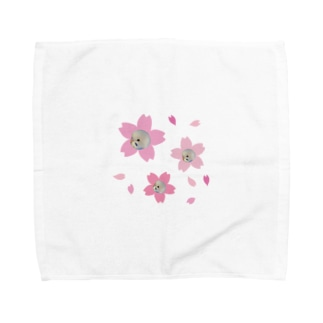 桜のピーちゃん Towel handkerchiefs
