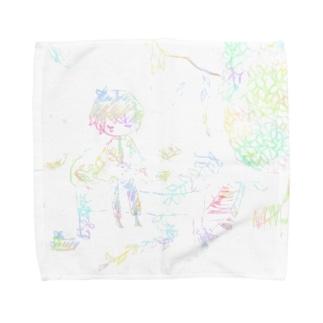 朽ち果てた Towel handkerchiefs