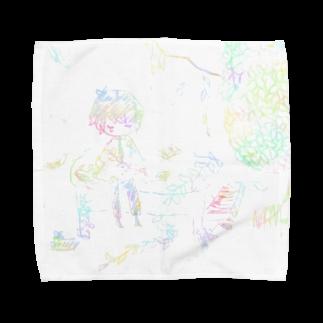 白雪  夏の朽ち果てた Towel handkerchiefs
