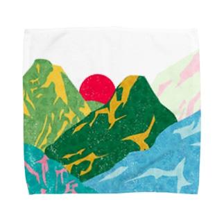 やま Towel handkerchiefs