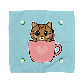 キジトラのすずちゃん・カップ02 Towel handkerchiefs