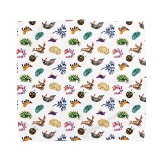 水彩風ウミウシ Towel Handkerchief