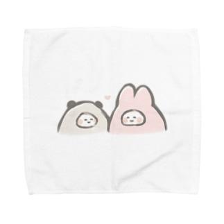 仲良しぱんだとうさぎ Towel handkerchiefs