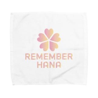REMEMBER HANAの【¥1000分寄付】REMEMBER HANA チャリティーアイテム Towel handkerchiefs
