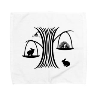 白黒木兎g Towel handkerchiefs