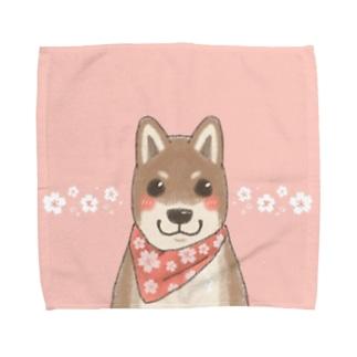 桜しば犬 Towel handkerchiefs