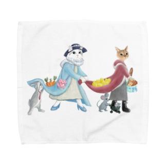市場へお買い物 Towel handkerchiefs