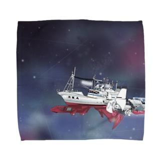 未知数の魚生丸 Towel handkerchiefs
