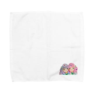 白板双子ちゃん Towel handkerchiefs