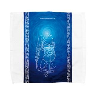 Caoliのアマビエ様 Towel Handkerchief