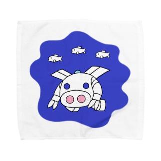深海探査ロボ『ピッグボール海(かい)』 Towel handkerchiefs