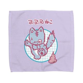 ビビりねこ Towel handkerchiefs
