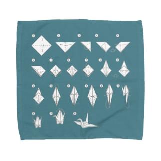鶴の折り方 Towel handkerchiefs
