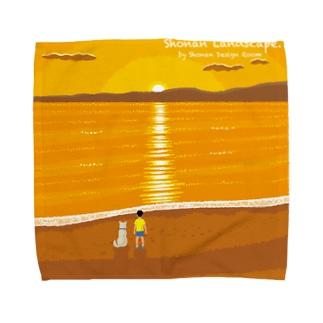湘南デザイン室:Negishi Shigenoriの湘南ランドスケープ07:夕焼け、光の道 Towel handkerchiefs