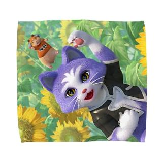 ヒマワリ畑のタオルハンカチ  Towel handkerchiefs
